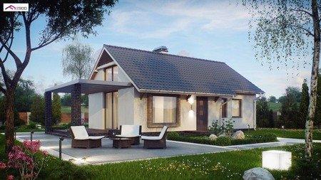 84075245 Parterowy dom, tani w budowie z trzema pokojami, także na małą działkę Z139 (powierzchnia użytkowa: 60,5 m²)