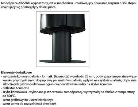 DOSTAWA GRATIS! 30071237 Piec wolnostojący koza 8kW KOZA AB GLASS (czarny) - spełnia anty-smogowy EkoProjekt