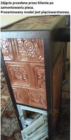 DOSTAWA GRATIS! 92238182 Piec grzewczy kaflowy 9,5kW Retro czterowarstwowy na drewno (wysokość: 100cm, wylot: 125mm)