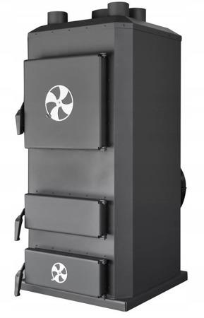 DOSTAWA GRATIS! 95464408 Piec nadmuchowy 32kW, blacha kotłowa 6 i 10mm (paliwo: drewno, miał węglowy, węgiel brunatny, węgiel kamienny, pellet)