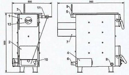 Drewag  Pieco kuchnia, angielka 13/5kW z płaszczem wodnym 31278470
