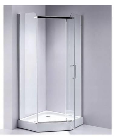 HYDAR Kabina prysznicowa pięciokątna 90x90 brodzik 23178229