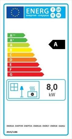 KONS Wkład kominkowy 8kW Blanka BS (lewa boczna szyba bez szprosa) - spełnia anty-smogowy EkoProjekt 30040873