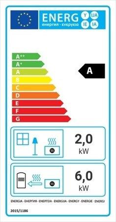 KONS Wkład kominkowy 8kW Maja Gilotyna z płaszczem wodnym, wężownicą (szyba prosta podnoszona do góry) - spełnia anty-smogowy EkoProjekt 30041194