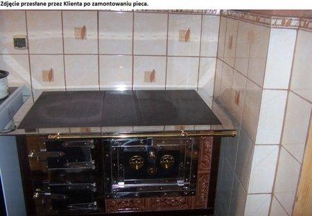 Kuchnia kaflowa, angielka 11kW Dominika, bez płaszcza wodnego (kolor: brąz) 92238167