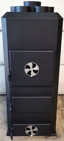Piec nadmuchowy 50kW, blacha kotłowa 6 i 10mm (paliwo: drewno, miał węglowy, węgiel brunatny, węgiel kamienny, pellet) 95476620