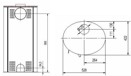 Piec wolnostojący koza 8kW AB (z panelami kaflowymi - biały) - spełnia anty-smogowy EkoProjekt 30060588