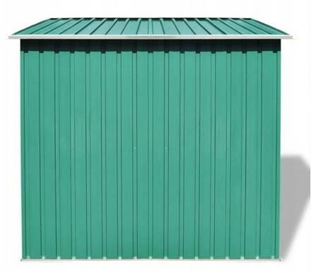 SEDEN Szopa ogrodowa metalowa zielona szopka (wymiary: 190 x 124 x 181 cm) 22778051